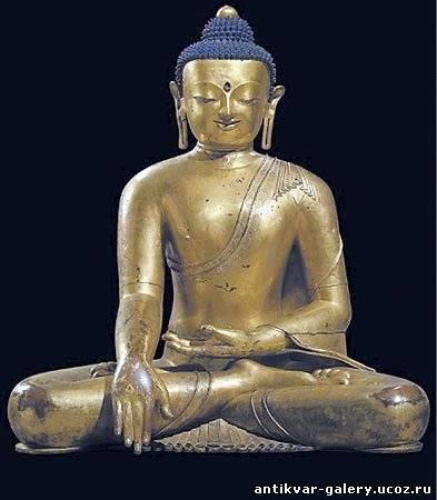 Сидящий Будда, Тибет, XIV в...
