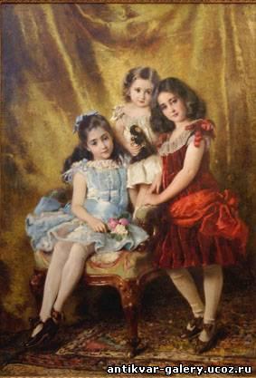 Портрет детей 1885г.